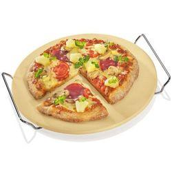 Okrągły kamień do pizzy z podstawką Kuchenprofi