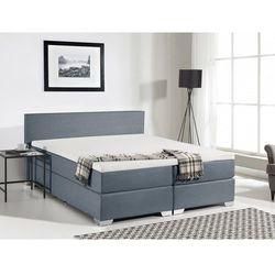 Łóżko kontynentalne 160x200 cm - tapicerowane - PRESIDENT szare
