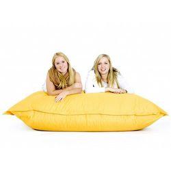 Beliani Nowoczesna pufa worek xxxl 180x230cm żółty