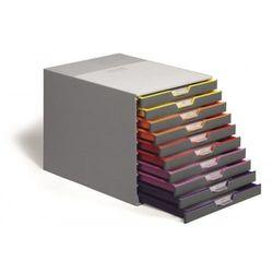 Pojemnik na dokumenty DURABLE Varicolor z 10 szufladami 7610