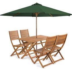 Fieldmann meble ogrodowe EMILY 4 + parasol zielony