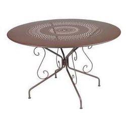 Stół ogrodowy w stylu francuskim montmartre  brązowy średnica 117 cm marki Fermob