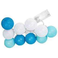 Świecące kule led, biało-niebieski Cotton Balls