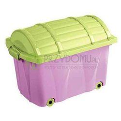 Skrzynia Pirata kufer liliowy limonkowy OK-0571 z kategorii Skrzynie