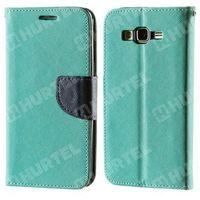 Kabura pokrowiec Fancy Series Samsung Galaxy S5 granatowy zielony - Zielony ||Granatowy - produkt z kategorii-