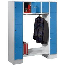Szafa na garderobę, otwarta, wys. x szer. całk.: 1850x1500 mm, 13 półek, jasnoni marki Eugen wolf