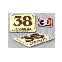 Tabliczka adresowa, tablica numer, numery dom 3d 30x20 marki Select