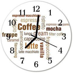 Zegar ścienny okrągły kawa marki Tulup.pl
