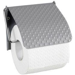 Wenko Uchwyt na papier toaletowy punto, wykonany ze stali, praktyczna klapka, kolor szary, wymiary 13x12x2.5 cm, marka marka (4008838241929)
