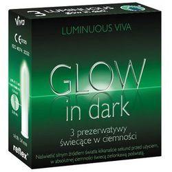 Prezerwatywy świecące w ciemności Viva 3 szt. 46075 - produkt z kategorii- Prezerwatywy