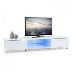 OneConcept Keira Niska szafka TV Nastrojowe światło LED Zmiana kolorów biała