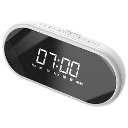 Baseus encok e09   wielofunkcyjny głośnik bezprzewodowy bluetooth zegar budzik - biały (6953156293755)
