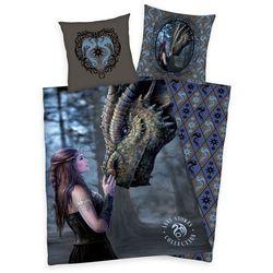 pościel bawełniana anne stokes dragon, 140 x 200 cm, 70 x 90 cm marki Herding