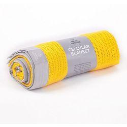 Mama designs kocyk tkany yellow grey