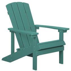 Beliani Krzesło ogrodowe zielone adirondack (4251682202442)