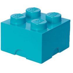 POJEMNIK LEGO 4 LAZUROWY - LEGO POJEMNIKI