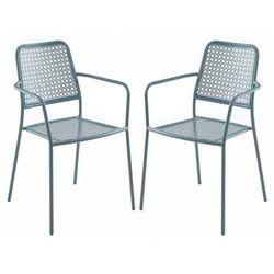 Vente-unique Zestaw 2 składanych foteli ogrodowych najac z metalu - kolor antracytowy