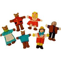 Złotowłosa i trzy niedźwiadki - pacynki na palec marki Bigjigs toys