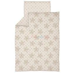 Ceba pościel bawełniana c-2 druk gwiazdki beżowe marki Ceba baby