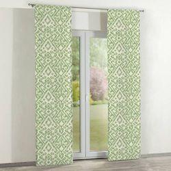 zasłony panelowe 2 szt., zielono- kremowe wzory na kremowym tle, 60 x 260 cm, urban jungle marki Dekoria