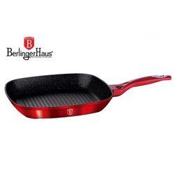 Patelnia granitowa grill 28cm  metallic line red [bh-1271] marki Berlinger haus