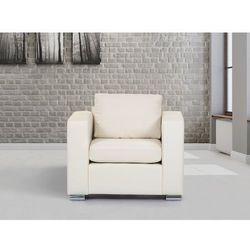 Beliani Skórzany fotel beżowy - sofa - helsinki, kategoria: sofy