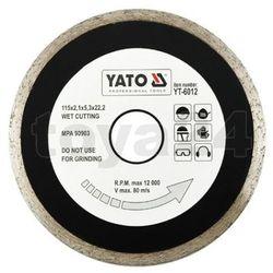 Tarcza diamentowa, segment ciągły, 115 mm / yt-6012 /  - zyskaj rabat 30 zł marki Yato