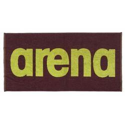 Arena ręcznik gym soft towel red wine-shiny green 100x50 cm
