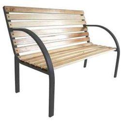 Drewniano-Stalowa ławka ogrodowa