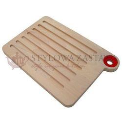 Deska do krojenia duża woody 33,5x23x2 cm czerwona marki Omada