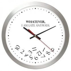 Aluminiowy zegar naścienny whatever marki Atrix
