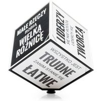 Motivation cube - kostka motywacyjna (pl) - czarno-biały marki Gadget factory