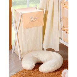 MAMO-TATO Kosz na bieliznę Wesołe zajączki brzoskwiniowe - produkt z kategorii- Kosze na pranie