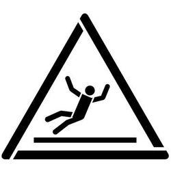 Szablon do malowania znak ostrzeżenie uwaga ślisko gw011 - 17x20 cm marki Szabloneria