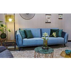 Sofa 3-osobowa visby niebieskoszara marki 9design
