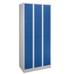 Szafa na garderobę w komfortowym rozmiarze,6 przedziałów, szer. przedziału 300 mm