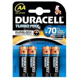4 x bateria alkaliczna Duracell Duralock Turbo Max LR6 AA (blister) - sprawdź w wybranym sklepie