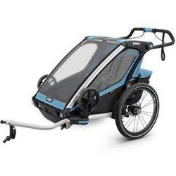 THULE Chariot Sport 2, przyczepka rowerowa dla dziecka - niebieski/czarny, towar z kategorii: Przyczepki rower