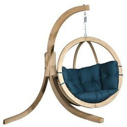 Zestaw: stojak Alicante + fotel Swing Chair Single, Zielony Alicante+Swing Chair Single