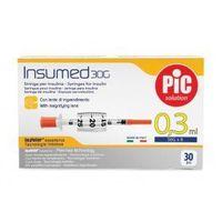Strzykawki insulinowe insumed 0,3ml g30x8mm (30 szt.) marki Astrana s.p. a.