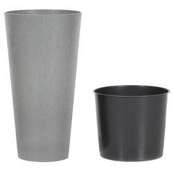 Doniczka Tubus Slim Beton Prosperplast : Średnica - 250 mm, Kolor - Beton