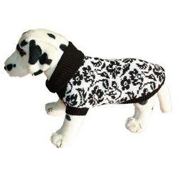 AMI PLAY Sweter dla psa Kwiatki Czarno-Białe rozmiary 1-6, towar z kategorii: Ubranka dla psów