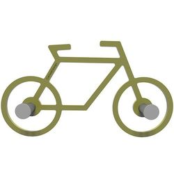 Calleadesign Wieszak ścienny bike  oliwkowo-zielony