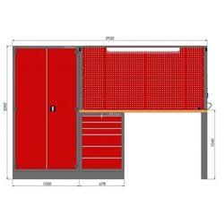Zestaw warsztatowy (szafa, szafka, tablica, noga, blat sklejka, zawieszki) M-3-02-00, M-3-02-00