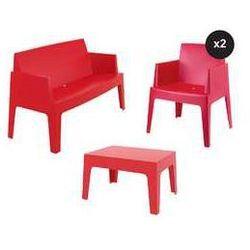 Designerski zestaw mebli ogrodowych box czerwony marki Siesta exclusive