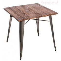Stół Paris Wood metaliczny sosna