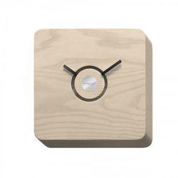TRATTORIA zegar wykonany w jasny drewnie 22x22x4 cm jasne drewno
