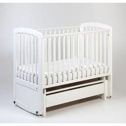 Troll Nursery De Lux Glider Cot drewniane łóżeczko z funkcją kołyski 120x60 białe (4751013126831)