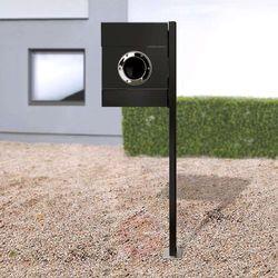 Stojąca skrzynka na listy letterman ii, czarna marki Absolut/ radius