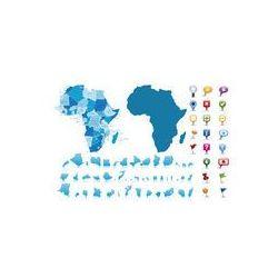 Foto naklejka samoprzylepna 100 x 100 cm - Mapa polityczna Afryki.Vector, produkt marki fotako